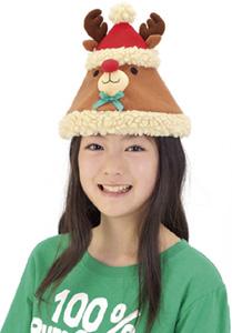 もこもこトナカイ帽子